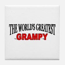 """The World's Greatest Grampy"" Tile Coaster"