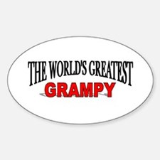 """The World's Greatest Grampy"" Oval Decal"