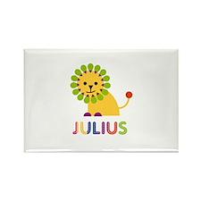 Julius Loves Lions Rectangle Magnet