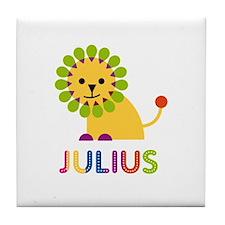 Julius Loves Lions Tile Coaster