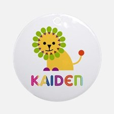 Kaiden Loves Lions Ornament (Round)