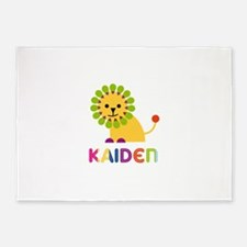 Kaiden Loves Lions 5'x7'Area Rug