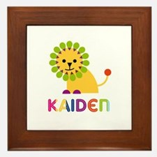 Kaiden Loves Lions Framed Tile