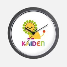 Kaiden Loves Lions Wall Clock