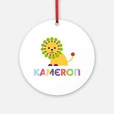 Kameron Loves Lions Ornament (Round)