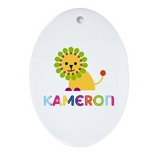 Kameron Loves Lions Ornament (Oval)
