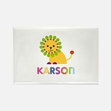Karson Loves Lions Rectangle Magnet