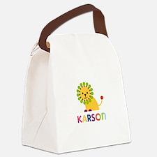 Karson Loves Lions Canvas Lunch Bag
