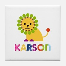 Karson Loves Lions Tile Coaster