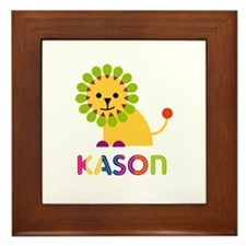 Kason Loves Lions Framed Tile