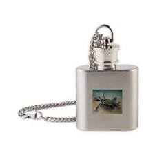 Blue Crab Flask Necklace