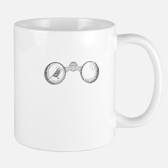 Binoculars - Birdwatching (with marsh tit) Mug