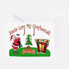 SANTA LUVS MY GREYHOUND GREETING CARDS (Pk of 10)