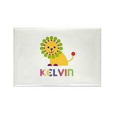 Kelvin Loves Lions Rectangle Magnet