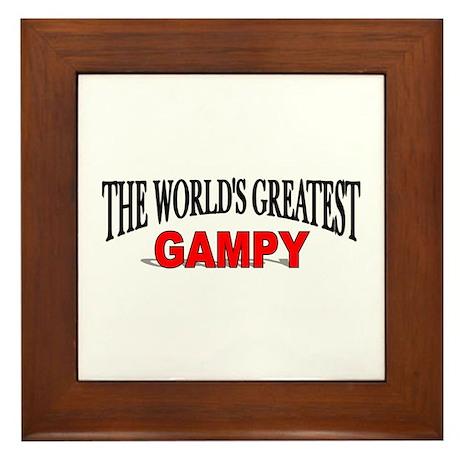 """""""The World's Greatest Gampy"""" Framed Tile"""