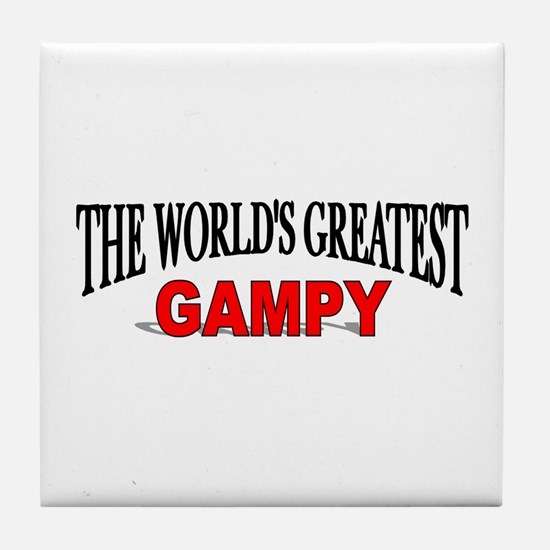 """The World's Greatest Gampy"" Tile Coaster"