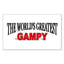 """The World's Greatest Gampy"" Rectangle Decal"