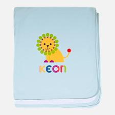 Keon Loves Lions baby blanket