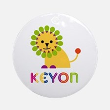 Keyon Loves Lions Ornament (Round)