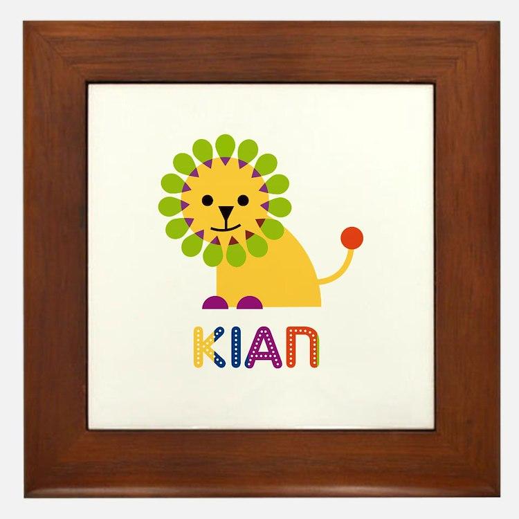 Kian Loves Lions Framed Tile