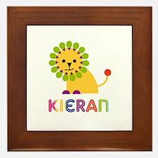 Kieran Loves Lions Framed Tile