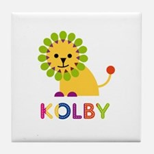 Kolby Loves Lions Tile Coaster