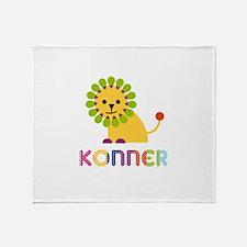 Konner Loves Lions Throw Blanket