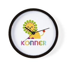 Konner Loves Lions Wall Clock