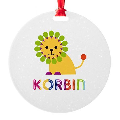 Korbin Loves Lions Ornament