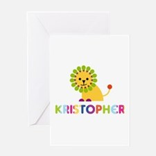 Kristopher Loves Lions Greeting Card