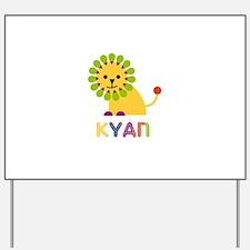 Kyan Loves Lions Yard Sign