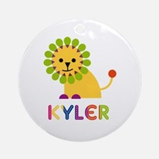 Kyler Loves Lions Ornament (Round)