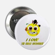 """I LOVE the Great Outdoors! 2.25"""" Button"""
