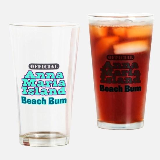 Anna Maria Island Beach Bum Drinking Glass