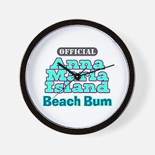Anna Maria Island Beach Bum Wall Clock