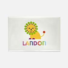 Landon Loves Lions Rectangle Magnet