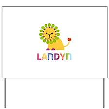 Landyn Loves Lions Yard Sign