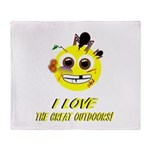I LOVE the Great Outdoors! Throw Blanket