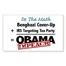 Benghazi Cover Up Impeach Obama Decal
