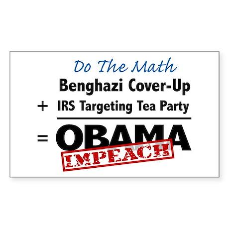 Benghazi Cover Up Impeach Obama Sticker
