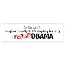 Benghazi Cover Up Impeach Obama Bumper Bumper Sticker