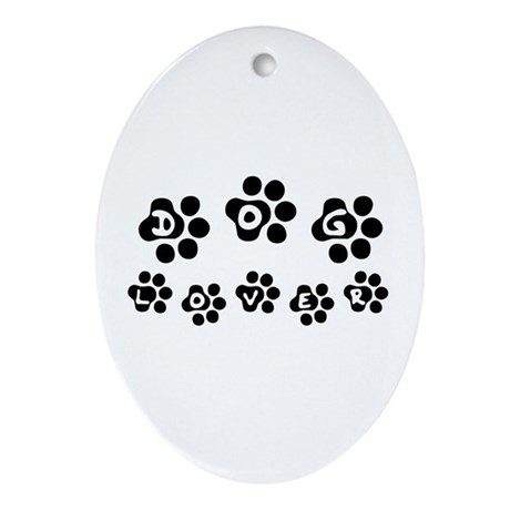 Dog Lover - Oval Ornament