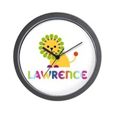 Lawrence Loves Lions Wall Clock