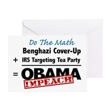 Benghazi Cover Up Impeach Obama Greeting Card