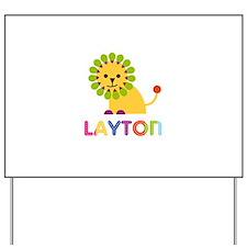 Layton Loves Lions Yard Sign