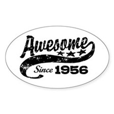 Awesome Since 1956 Stickers