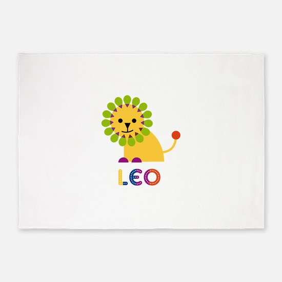 Leo Loves Lions 5'x7'Area Rug