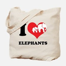 I Heart Elephants Tote Bag