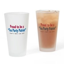 Proud Tea Party Patriot Drinking Glass