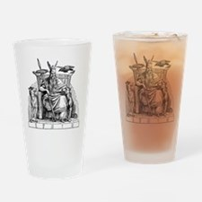 Odin with Ravens and Wolves Drinking Glass